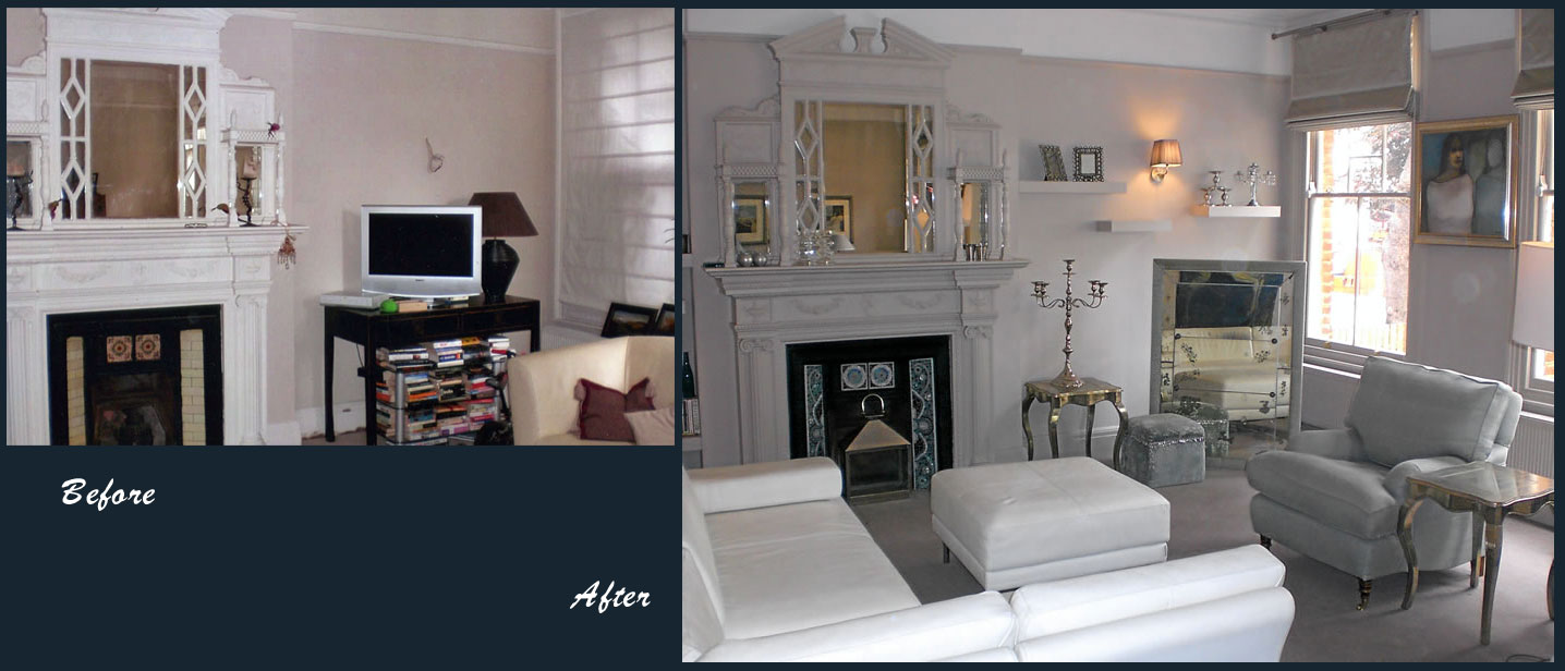 before and after - snowgoose interiors